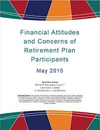 DC Participant Insight Series: Financial Attitudes and Concerns 2015