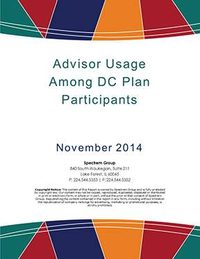 DC Participant Insight Series - Advisor Usage Among DC Participants 2014