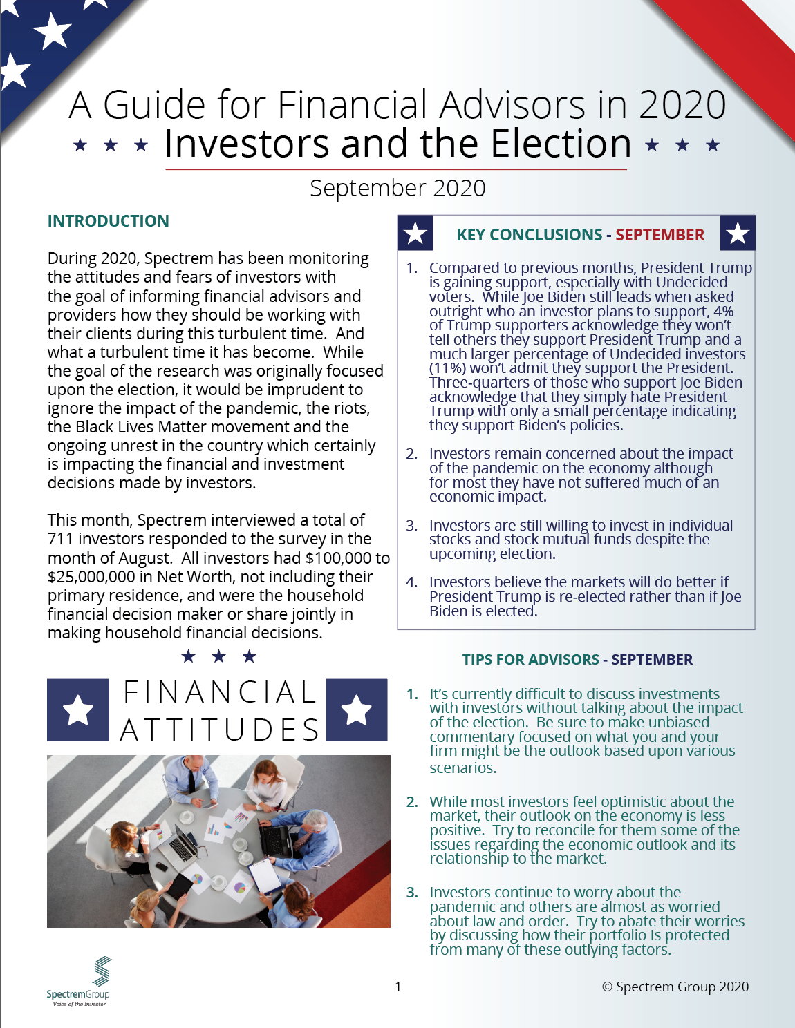 Wealthy Investors and the Election: A Guide for Financial Advisors in 2020 - September