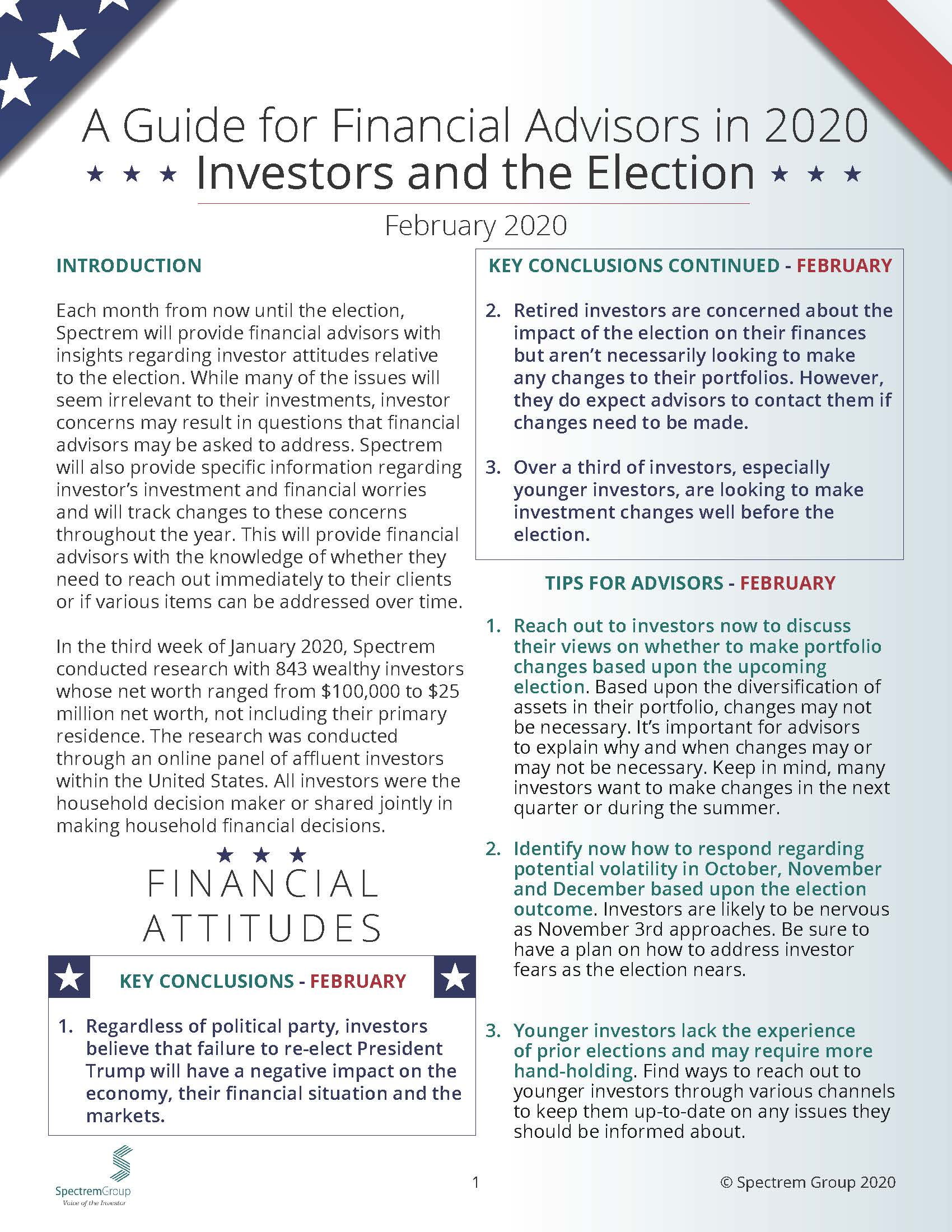 Wealthy Investors and the Election: A Guide for Financial Advisors in 2020 - February