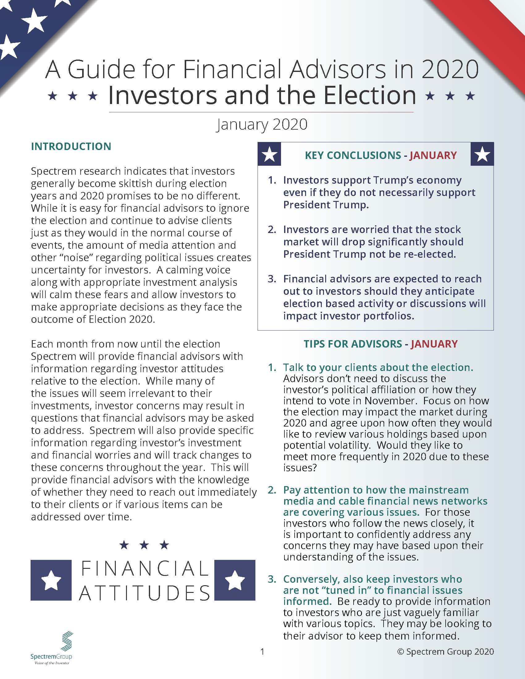 Wealthy Investors and the Election: A Guide for Financial Advisors in 2020 - January